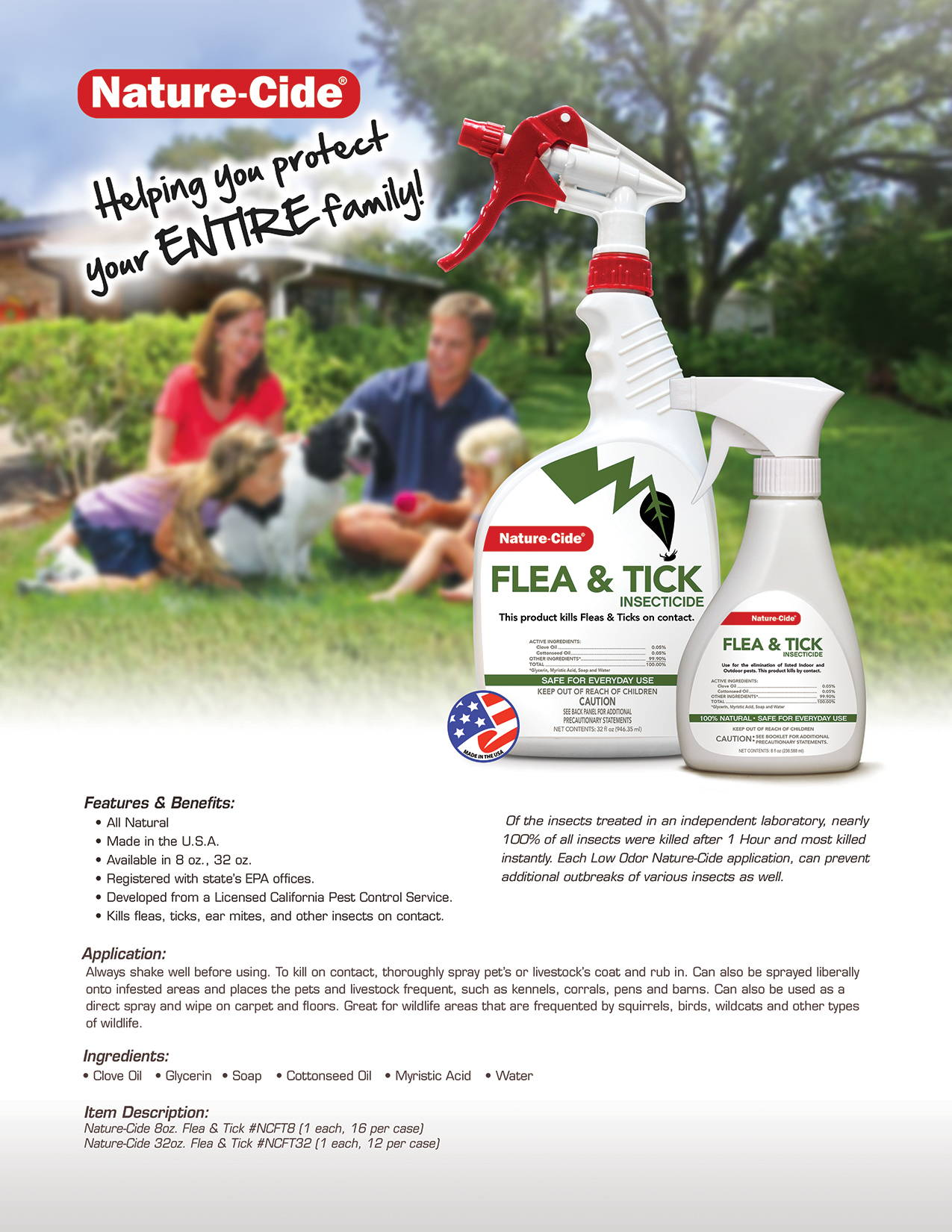 Nature-Cide Flea and Tick Product Info