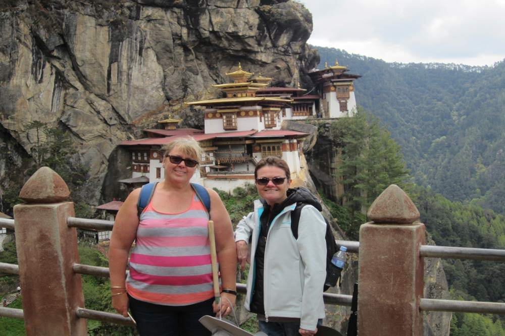 Travelbay Bhutan Tours - Customer Review - Cheryl White in Bhutan - Tiger's Nest Monastery