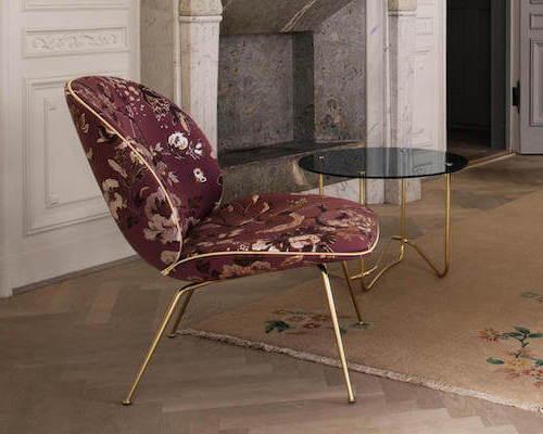 GUBI Beetle Print Lounge Chair