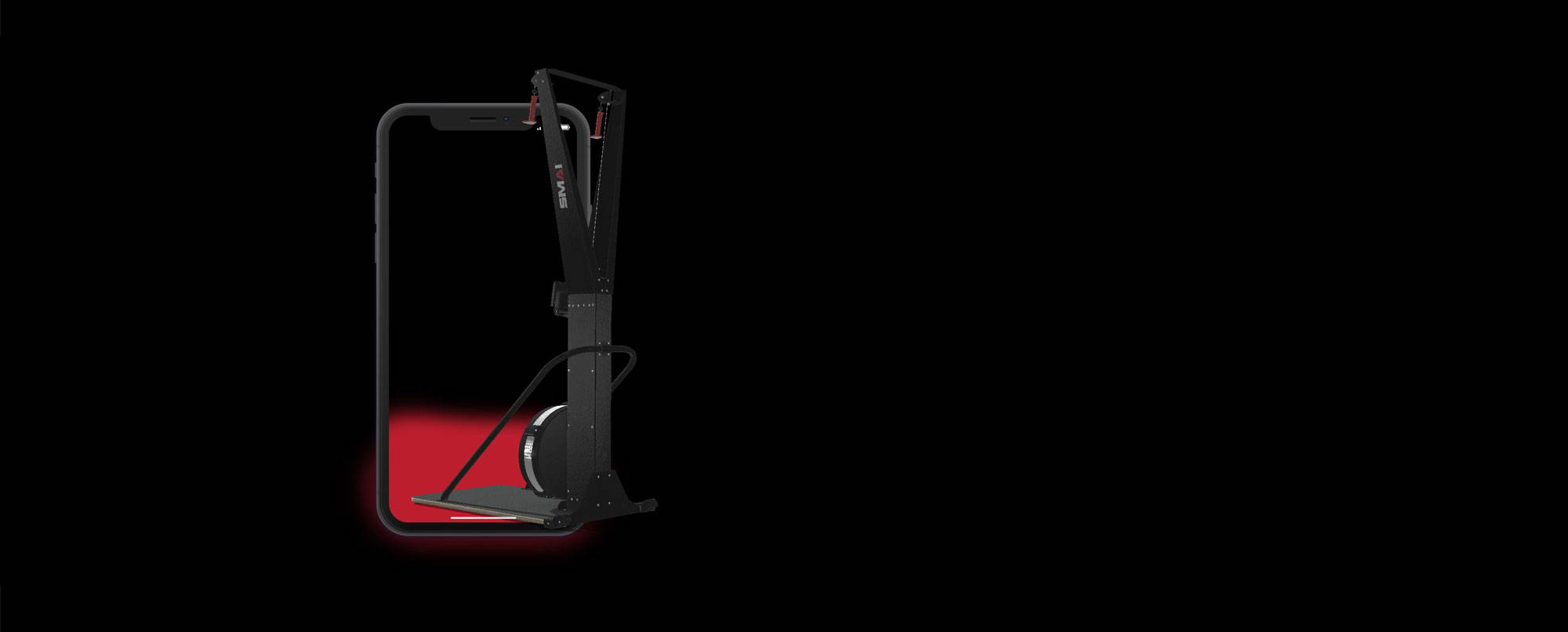 Ski machine in AR mode
