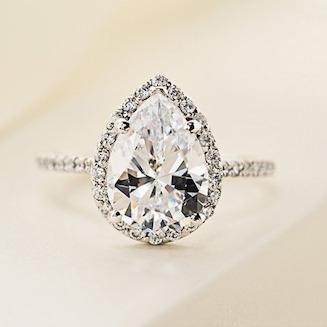 Diamond Halo Engagement Ring Trend