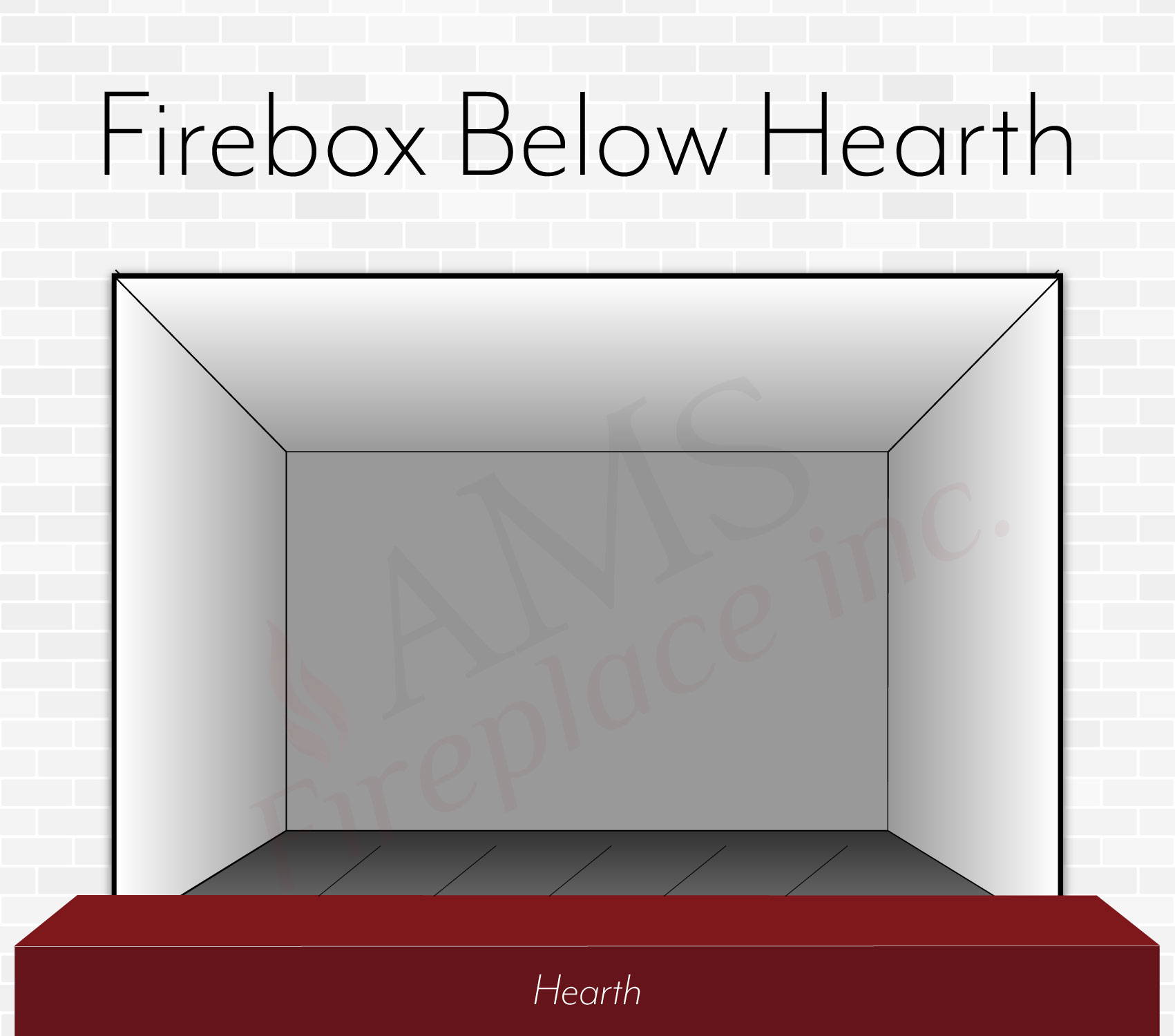 Fire Bed Below Hearth -  Front View
