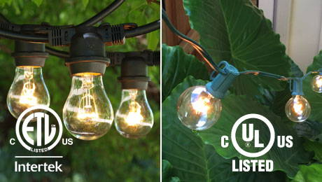 ETL and UL Listed String Lights