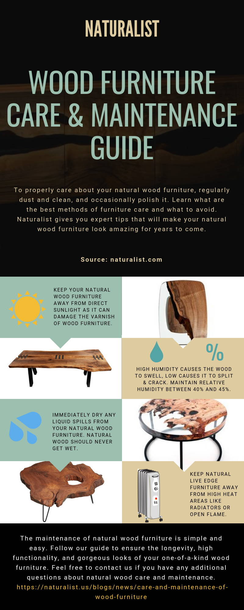 Natural wood furniture care and maintenance guide