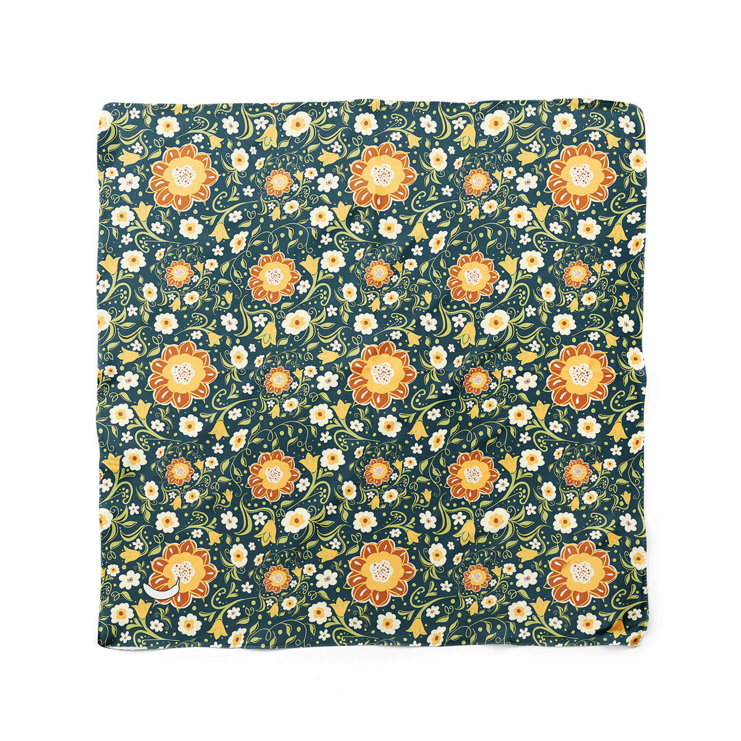 Banana Bandanas Flower Power hippy dog bandana flat photo