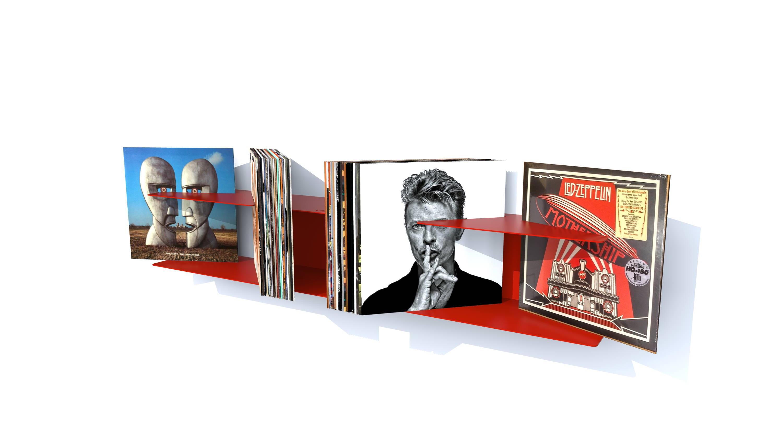 etagere murale vinyles contemporaine