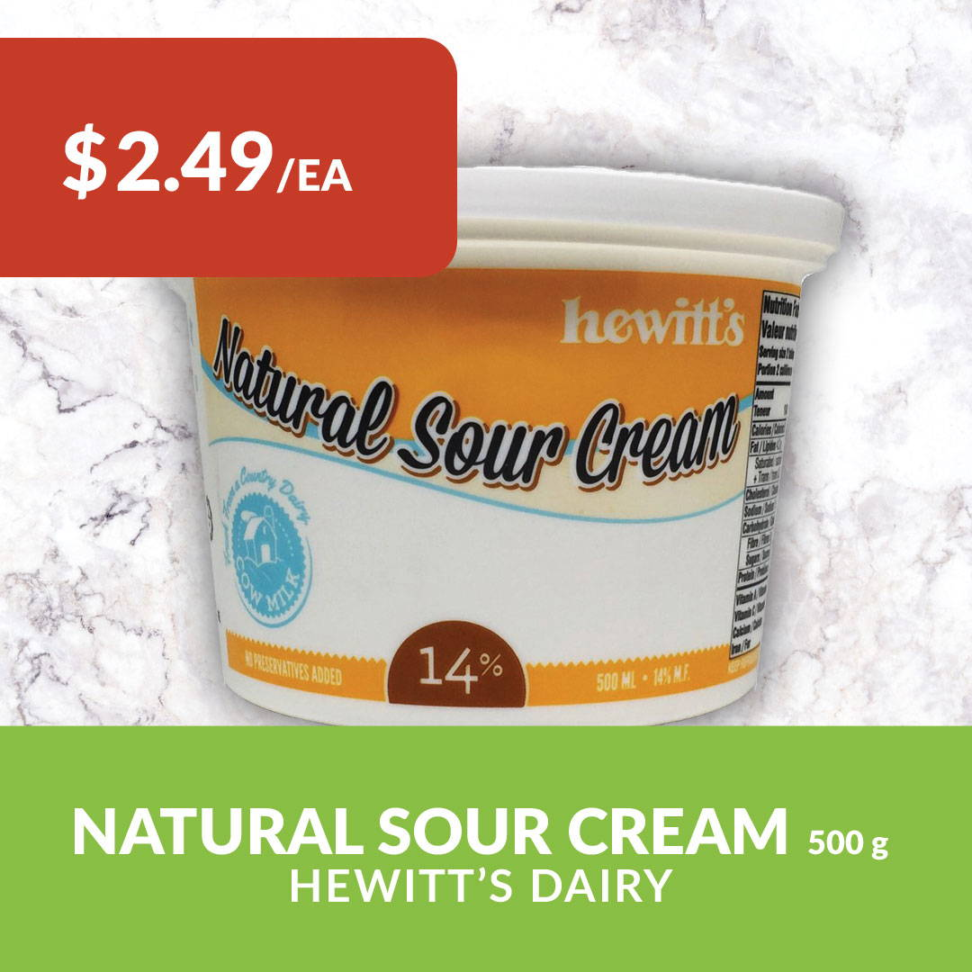 Hewitt's sour cream