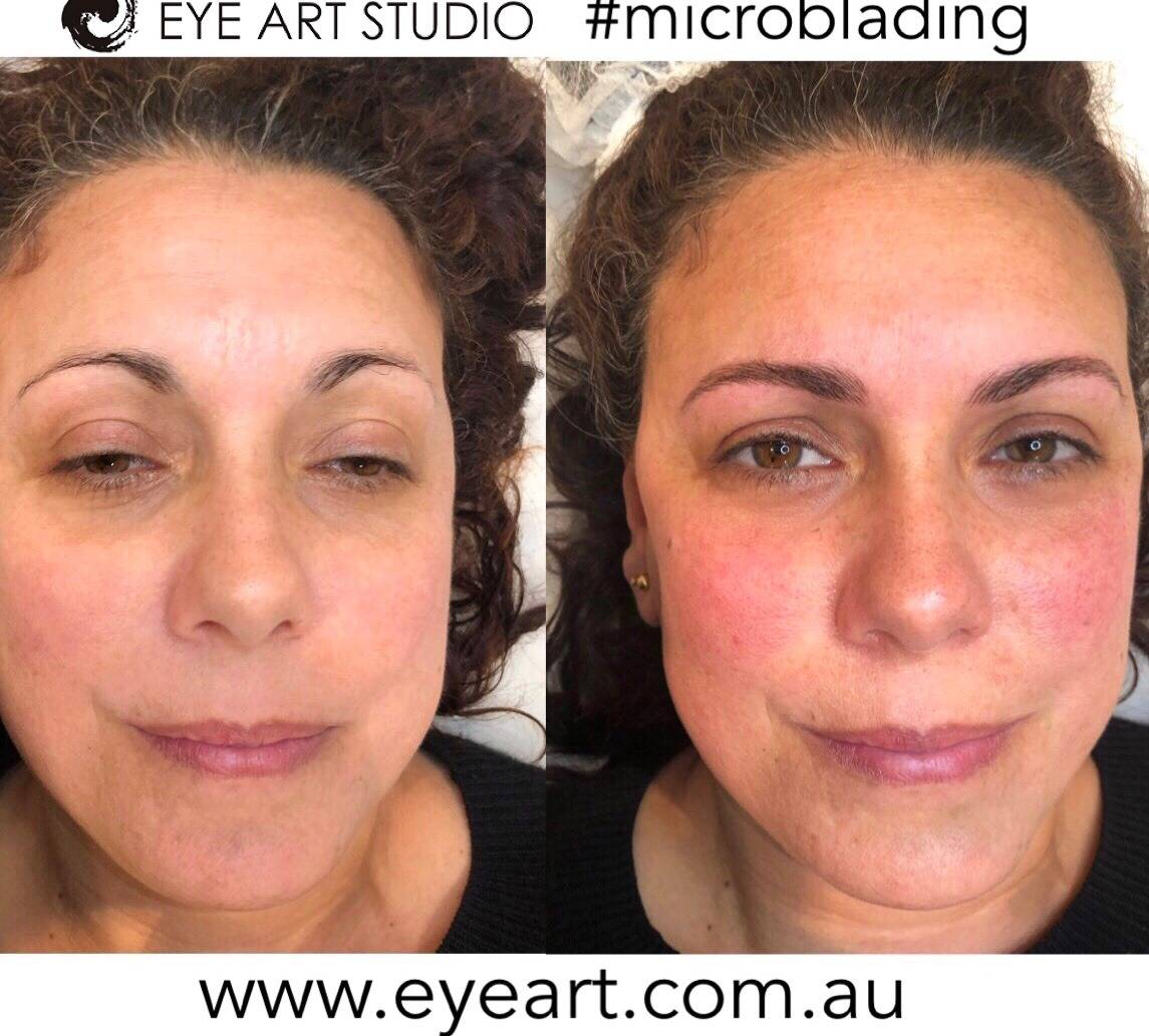 Eyebrow Microblading Before and After Photo