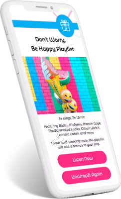 A playlist is one of many employee appreciation gifts and employee appreciation gift ideas that companies can give through UnWrapIt.