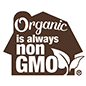 Organic is always non GMO certification logo