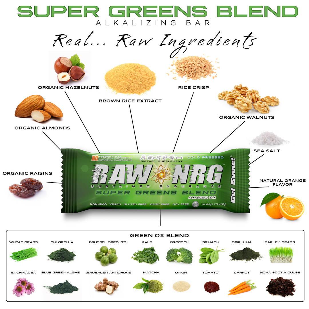 Super greens nutrition bar - RAW NRG