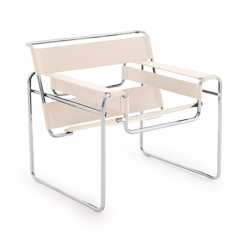 Knoll Wassily Chair by Marcel Breuer in Canvas