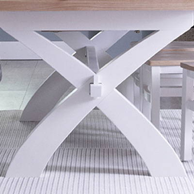 Lavenham White & Oak Painted Dining Collection