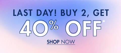 Buy 2 Get 40%