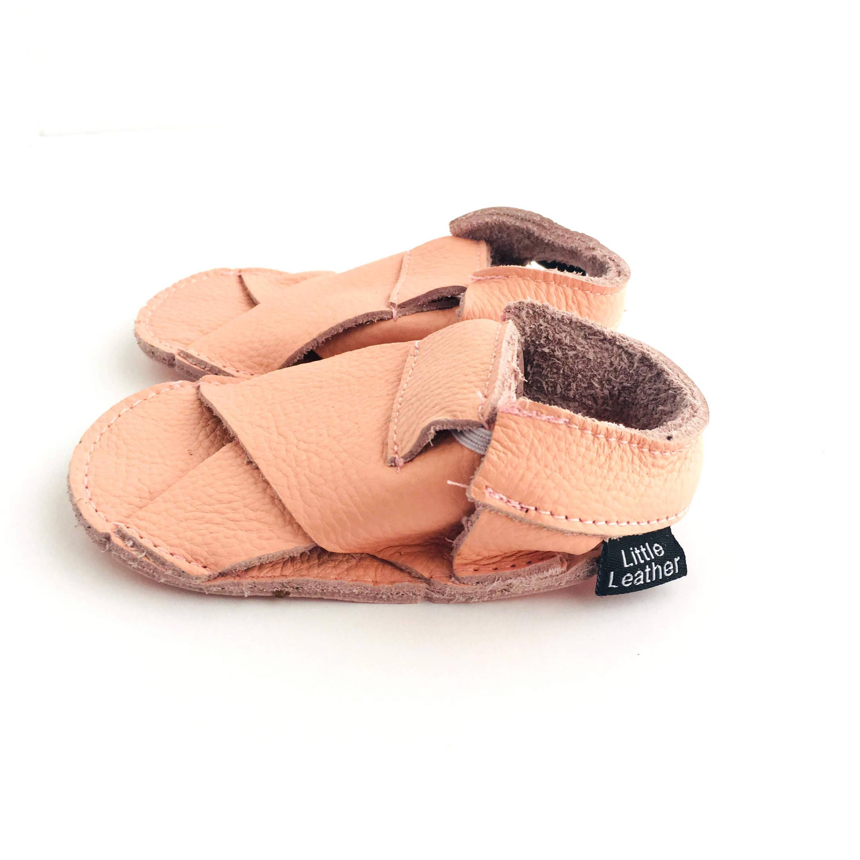 Cross Soft Sole Sandals Blush Pink Colour Side View