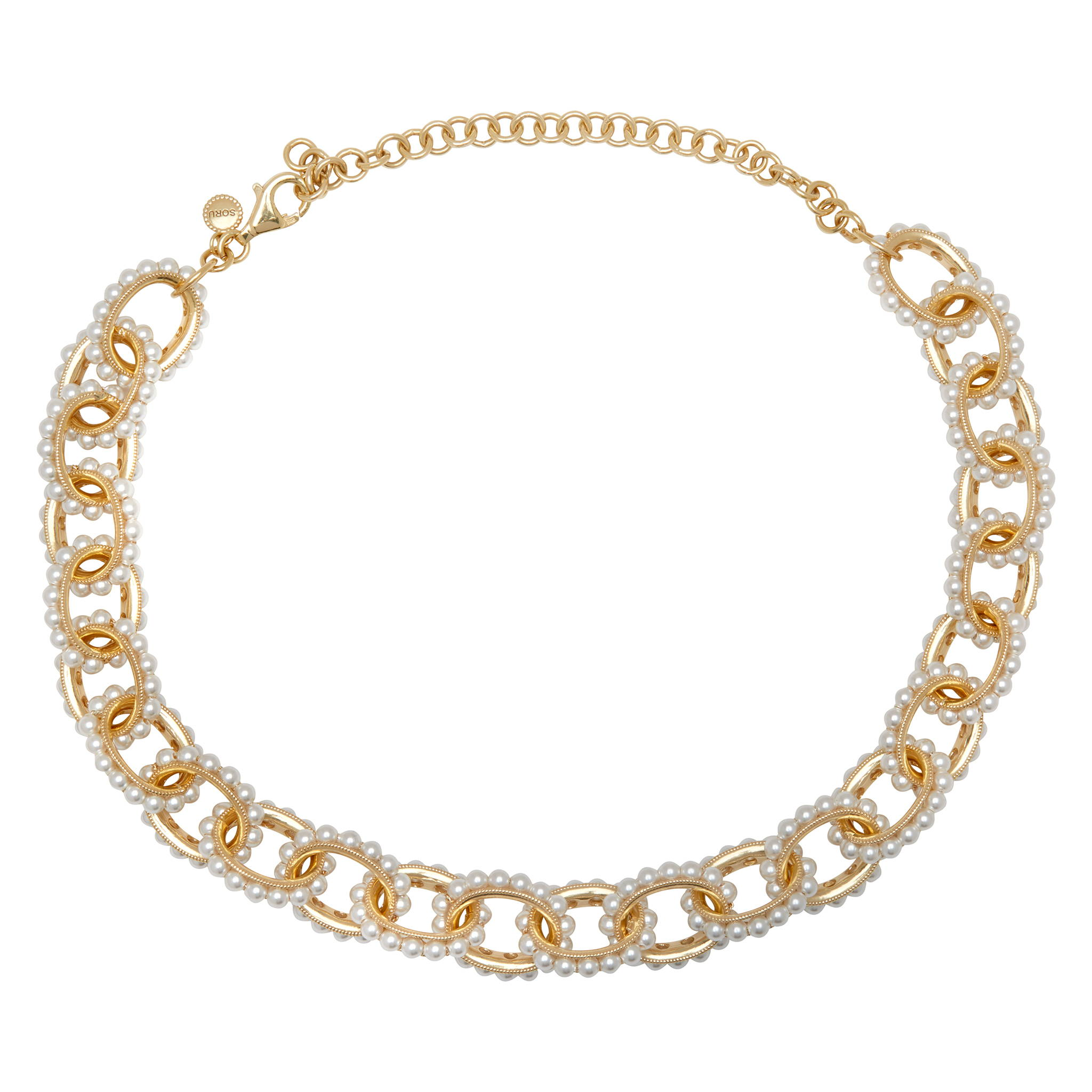 SORU JEWELLERT MONDELLO NECKLACE, SORU PEARL LINK NECKLACE