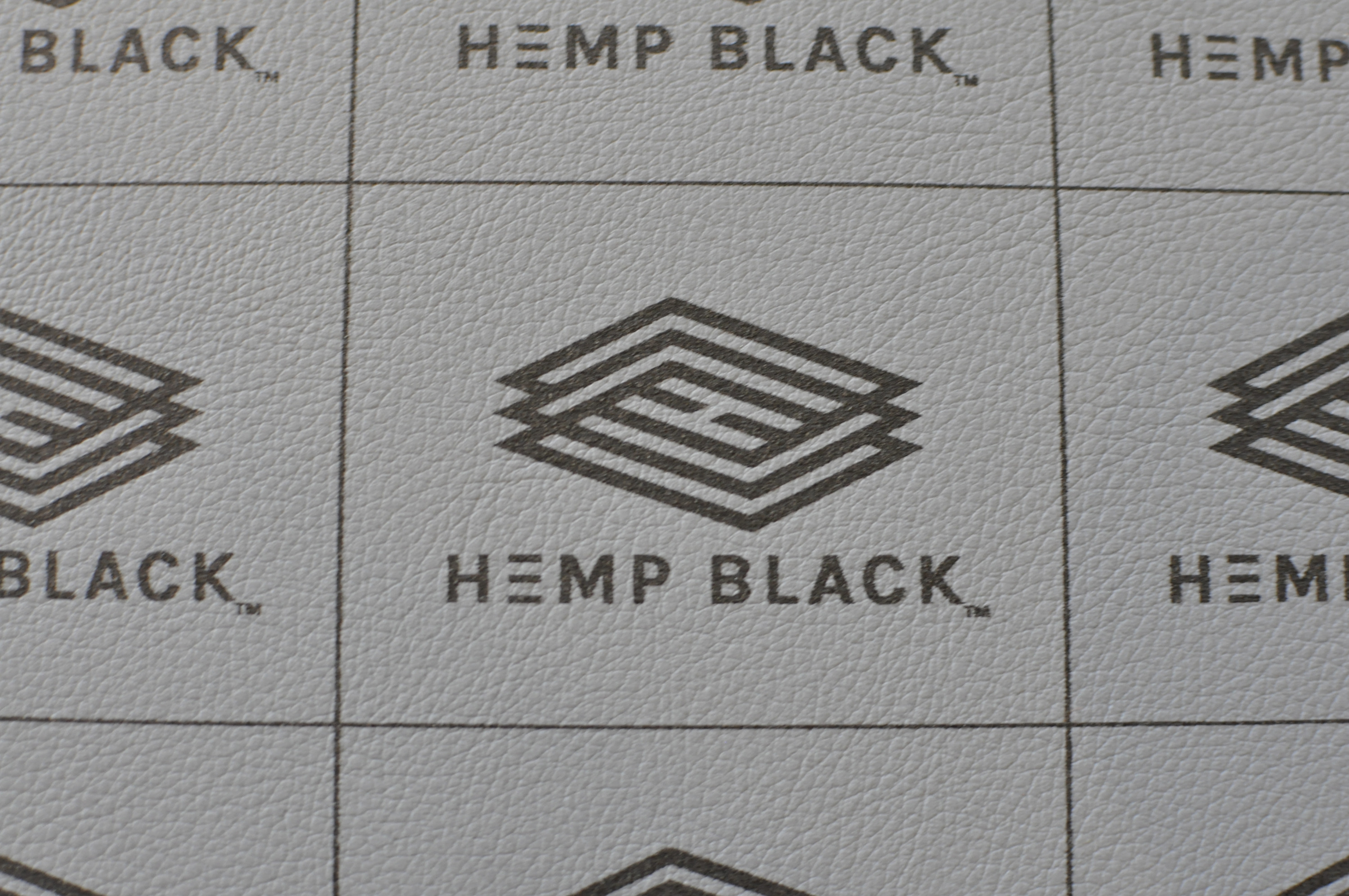 HEMP BLACK / ink printed on HEMP BLACK / hide leather alternative