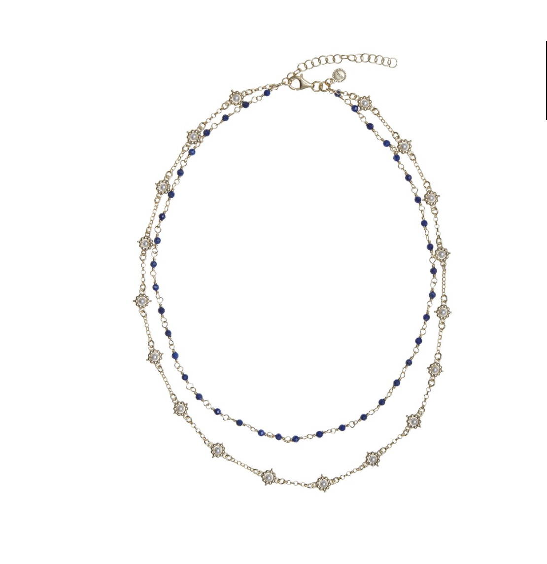 SORU JEWELLERY ADA NECKLACE, PEARL AND LAPIS NECKLACE SORU, SORU SICILIANA NECKLACE