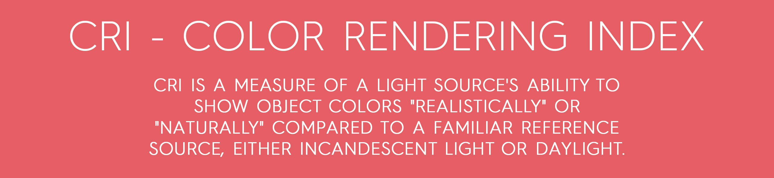 explanation of  color rendering index from rikilovesriki