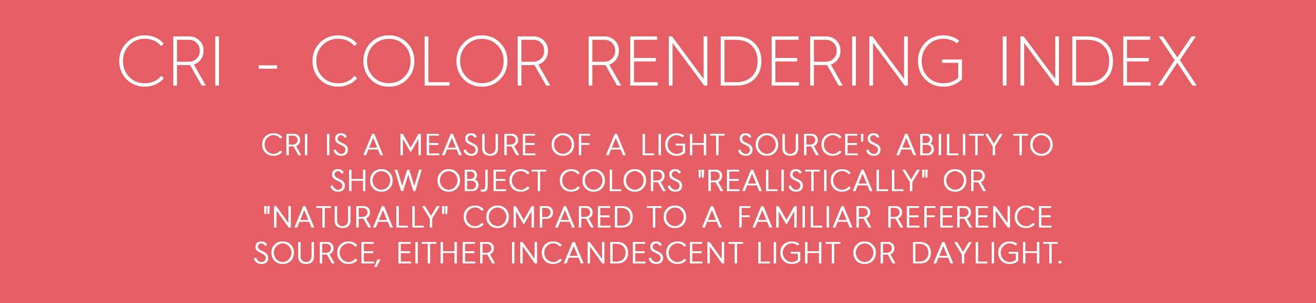 explanation of color rendering index from rikilovesriki