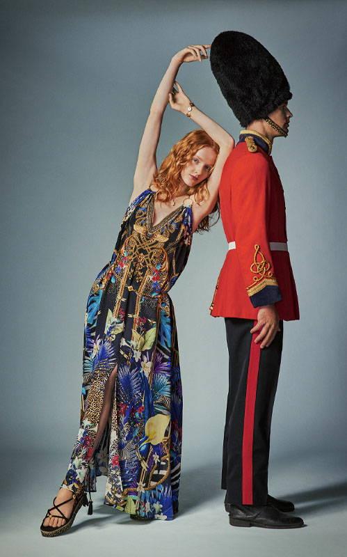 CAMILLA rainbow room dress, CAMILLA navy floral dress