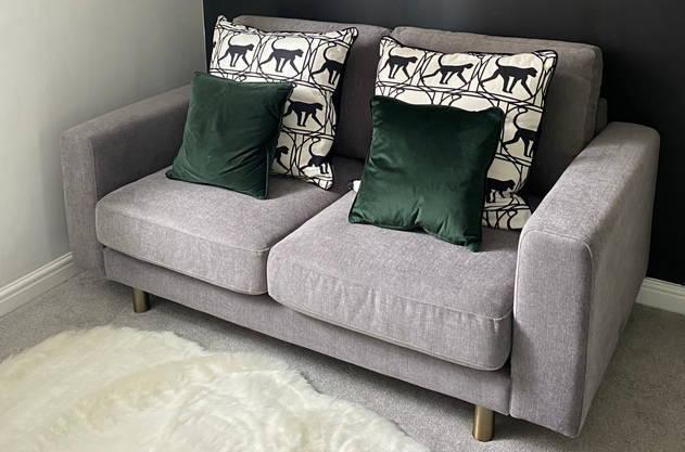 Grey 2 seater sofas