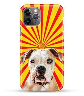 pitbull dog on custom phone case in pop art