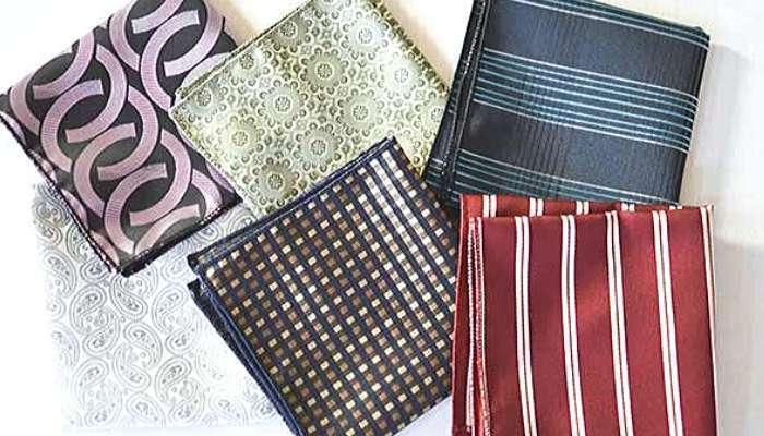 Group of pattern pocket squares