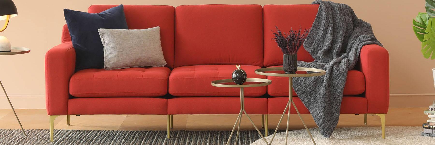 Normod Kırmızı Üçlü Modüler Koltuk desktop