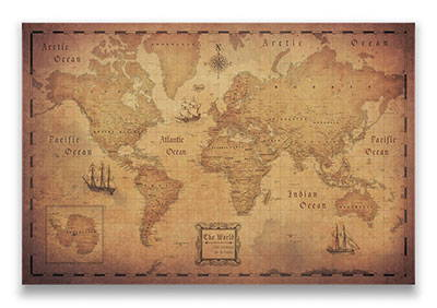 Conquest Maps: World & USA Pin Board, Pins & Posters Travel Maps