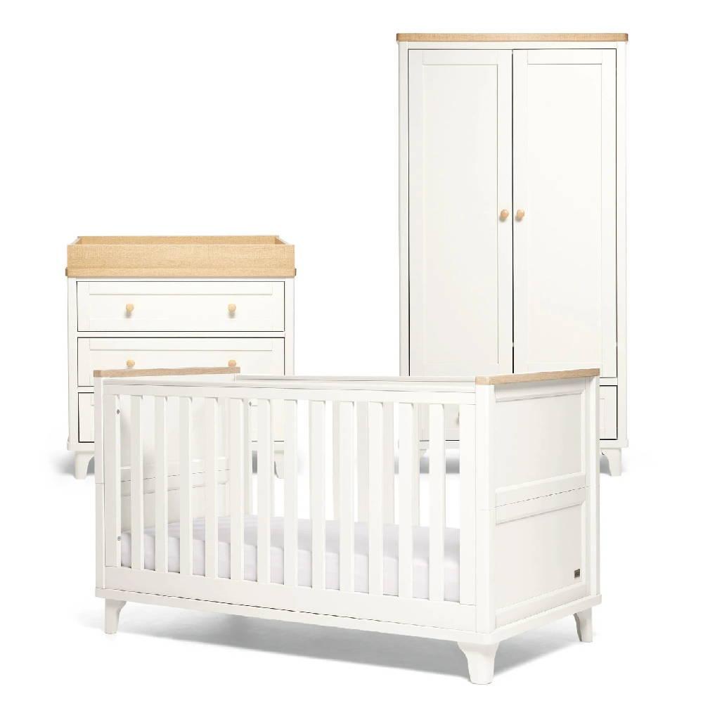 Trista 3 Piece Nursery Furniture Set  White/Oak