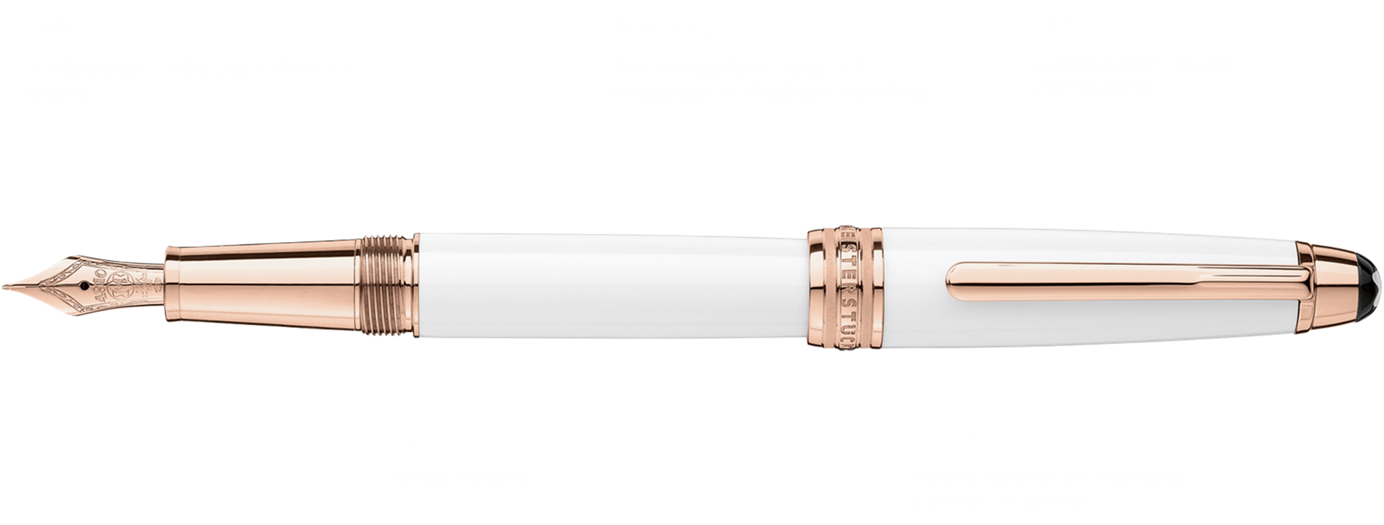 Montblanc Meisterstück White Solitaire Red Gold