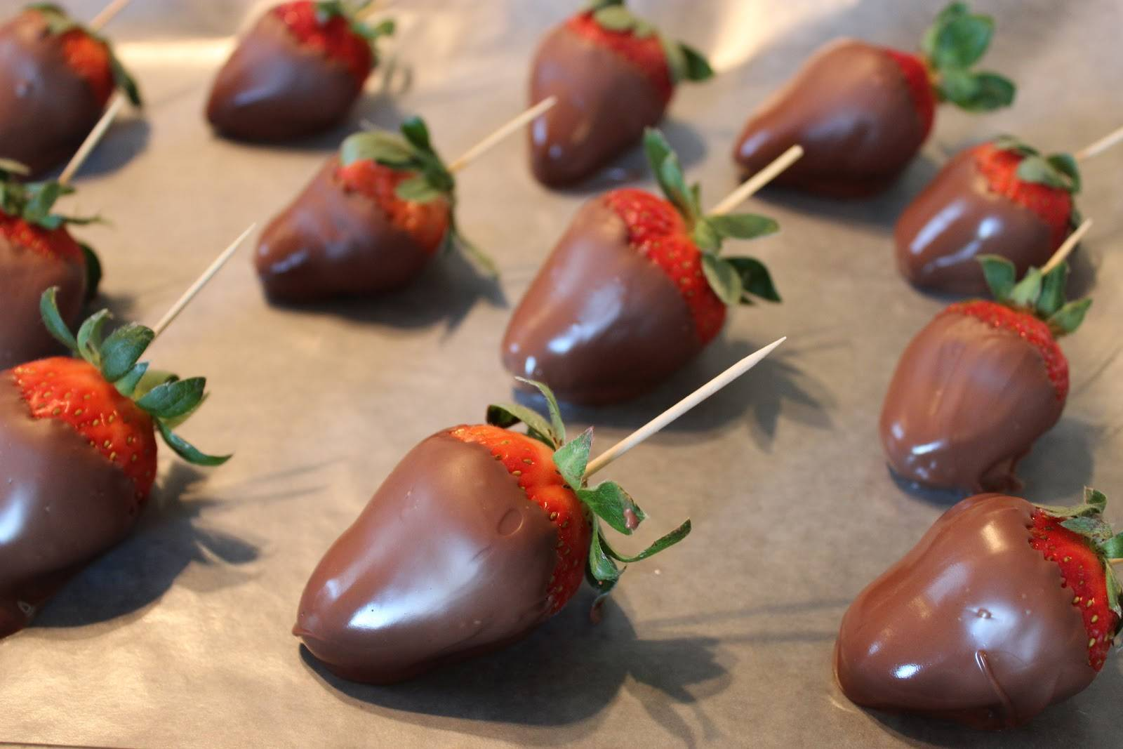Herb Infused Chocolate Covered Strawberries Recipe