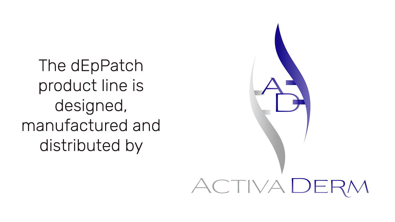 activaderm deppatch logo. the deppatch product line is designed, manufactured and distributed by Activaderm, Inc.
