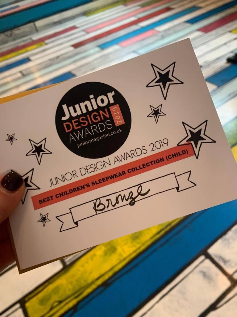 A Junior Design Awards Certificate
