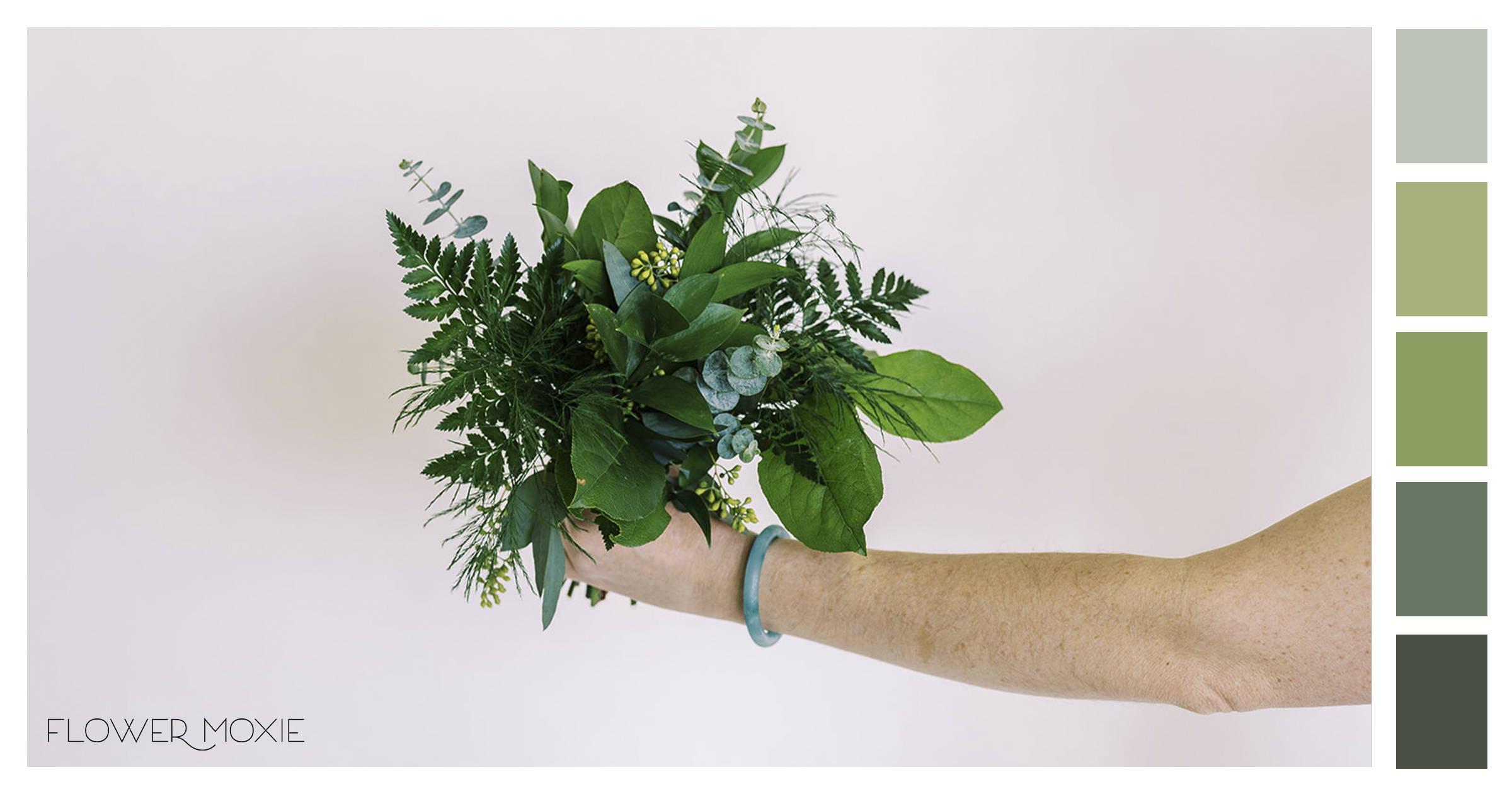 greenery only diy wedding flowers