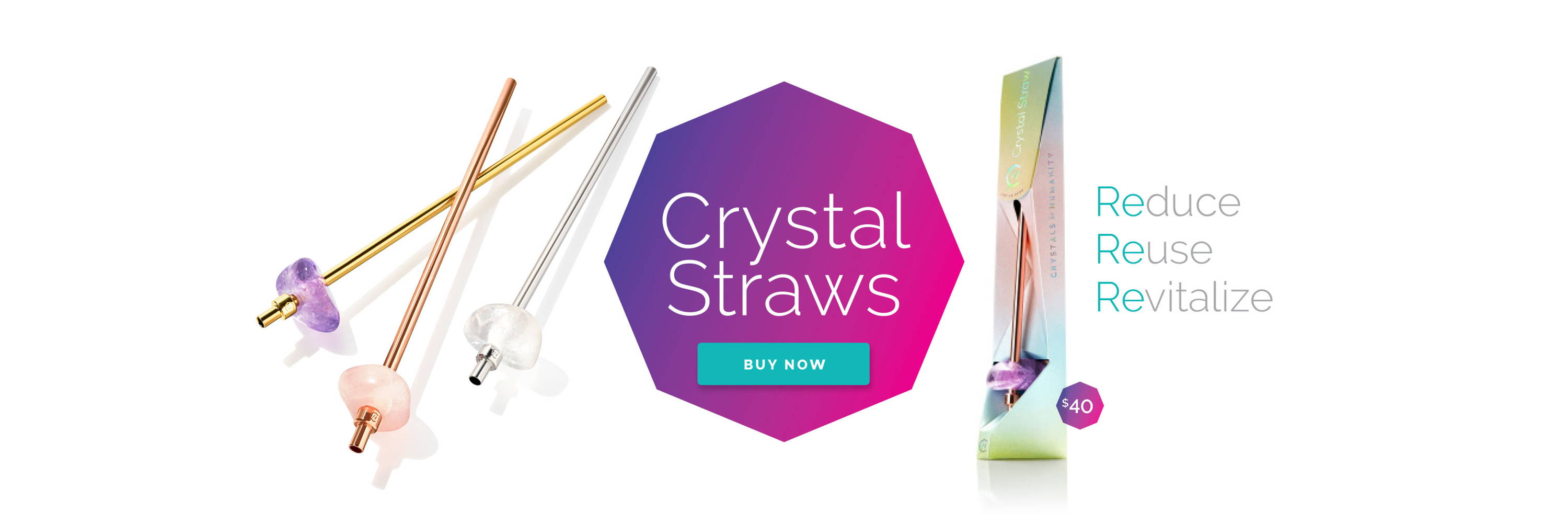 Reusable Crystal Straws by Crystals for Humanity