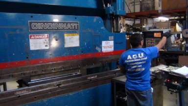 Press Brake metal forming from ACU Precision Sheet Metal