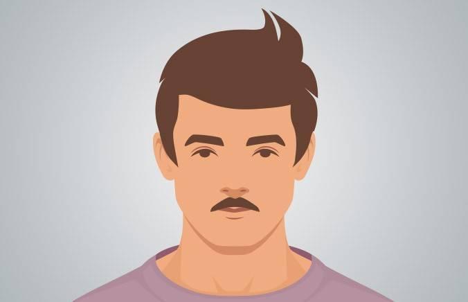 ORIGINAL STACHE - A trim mustache that sits just above the top lip