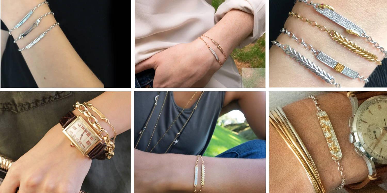Engraved bracelets for women