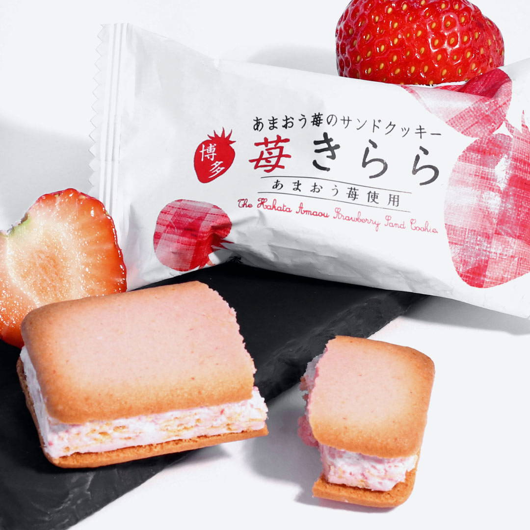 amaou strawberry kirara Japanese cookie