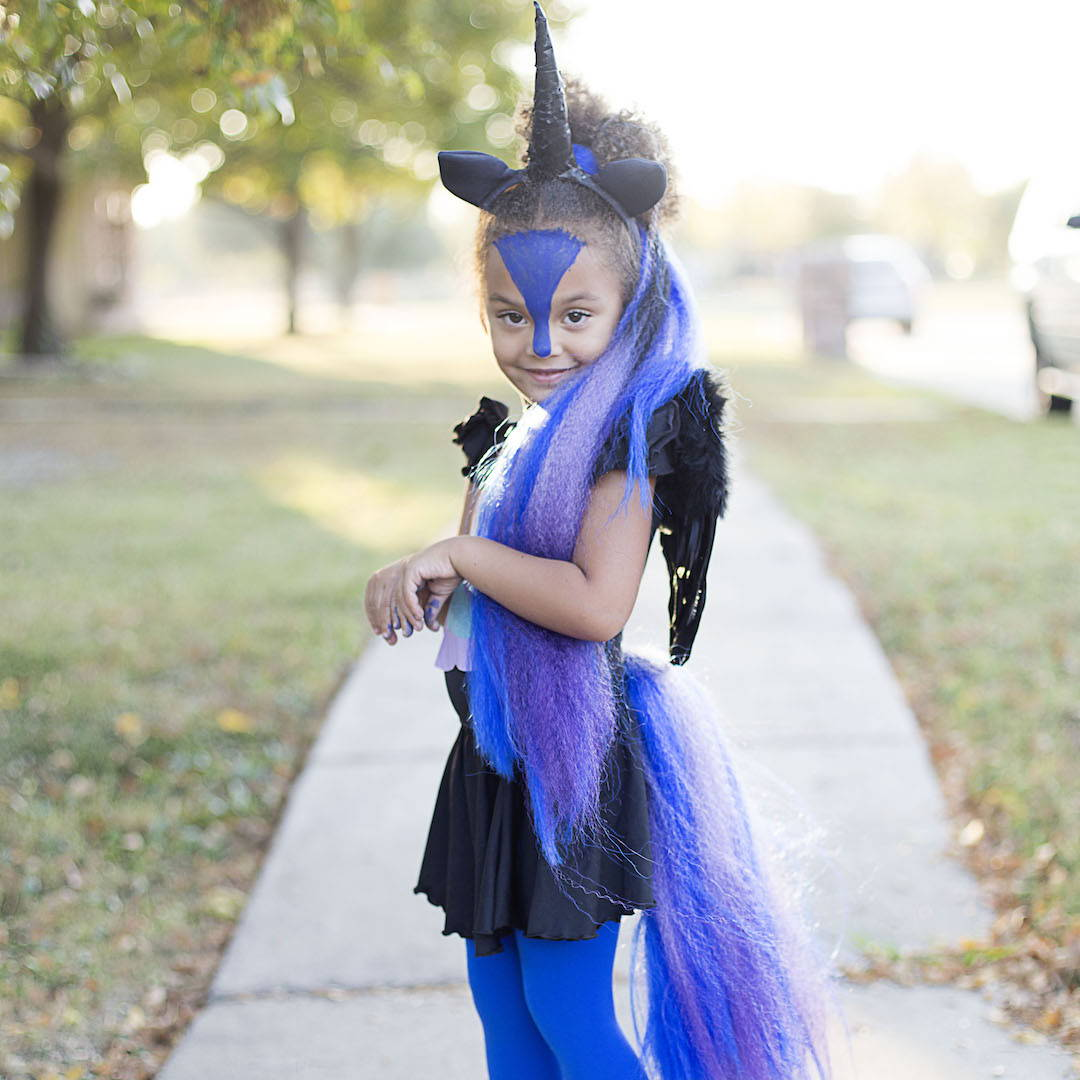 Easy To Assemble Or Diy Unicorn Halloween Costume For Girls