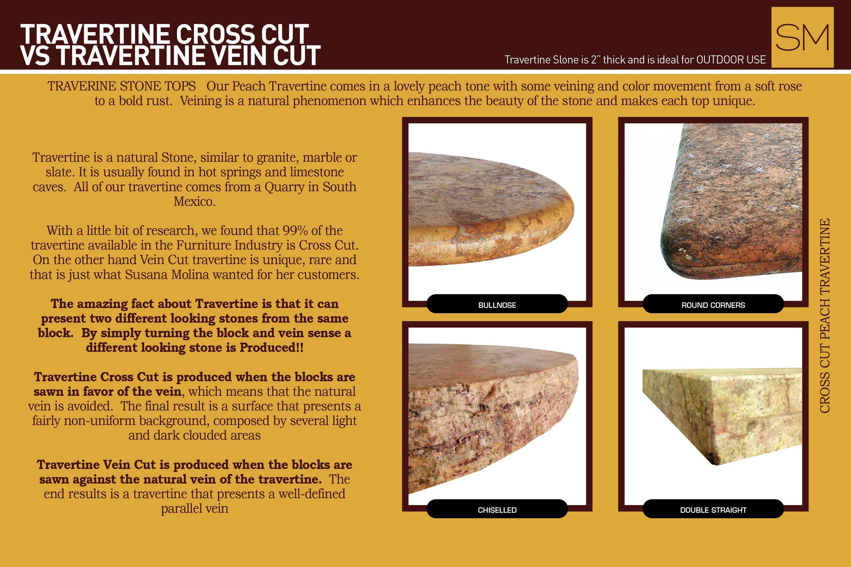 Travertine cross cut vs travertine vein cut