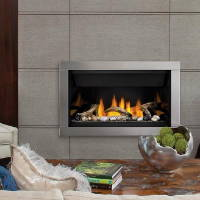 Napoleon BL36 gas fireplace in contemporary wall