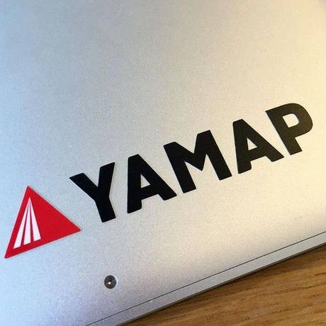 YAMAP(ヤマップ)/オリジナルカッティングステッカー(小)/ブラック