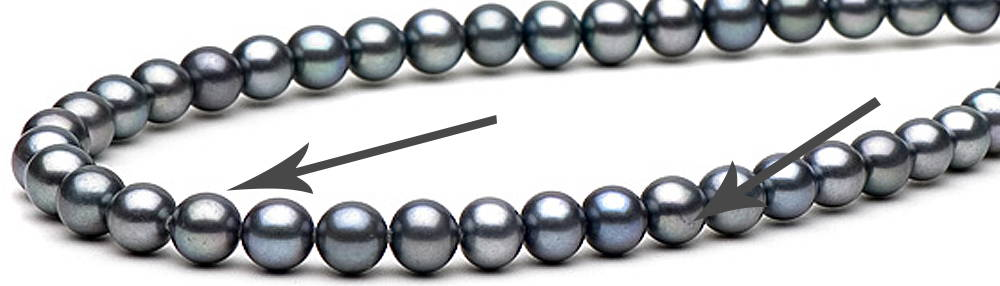 Freshwater Blemishes Dyed Black Pearls