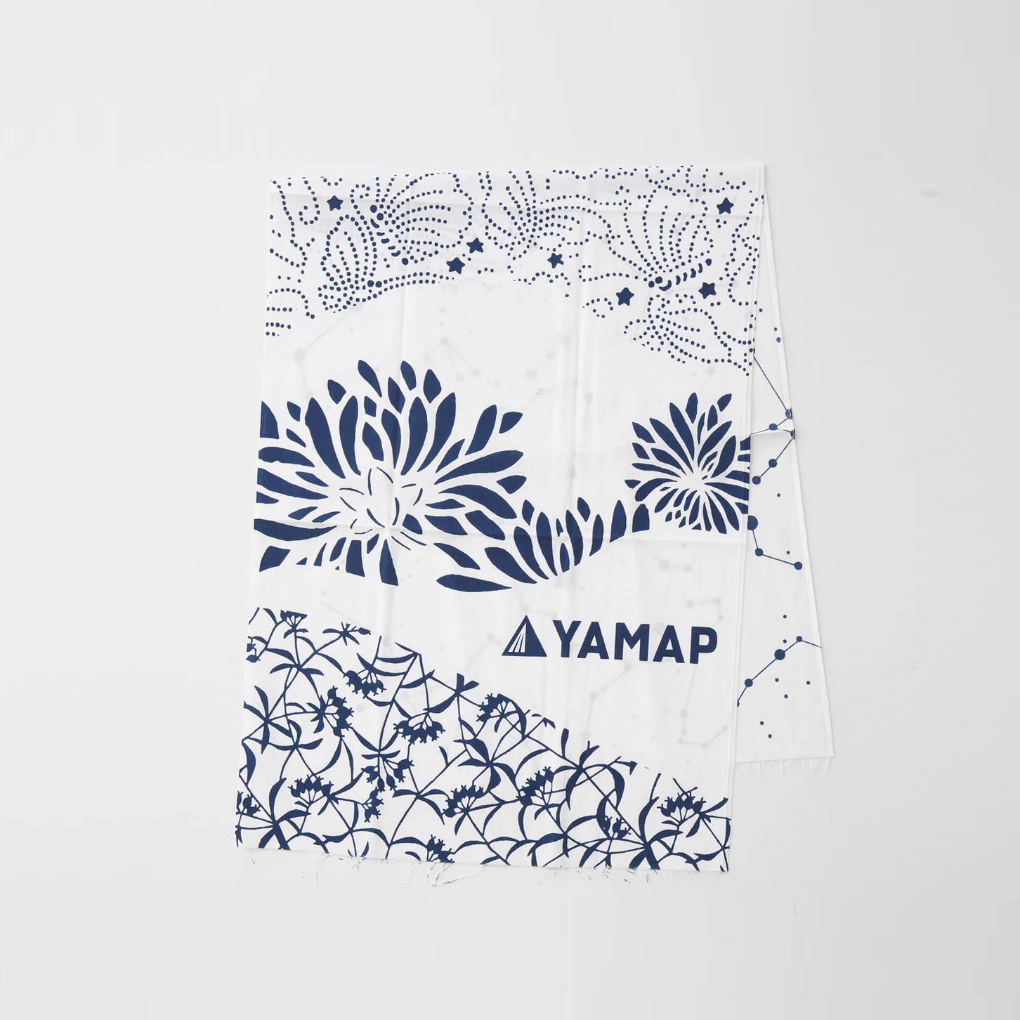 YAMAP(ヤマップ)/オリジナル手ぬぐい/ホワイト