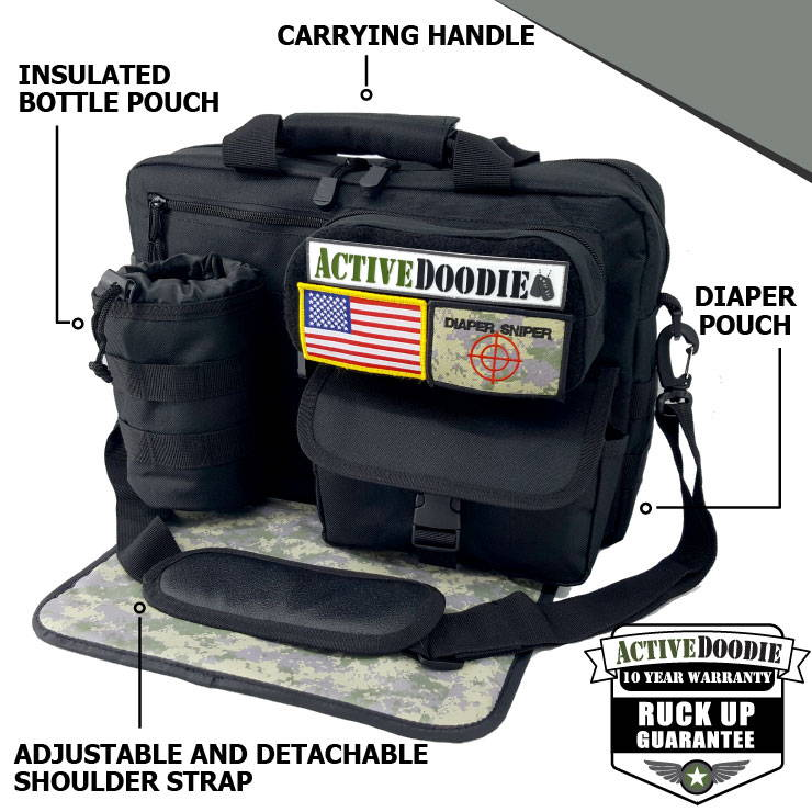 Active Doodie Tactical Style Baby Bag