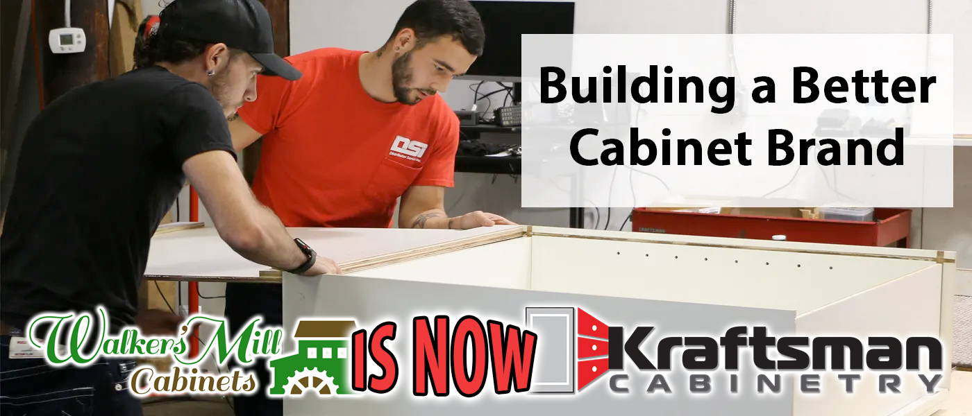 Walkers Mill Cabinets is now Kraftsman Cabinetry