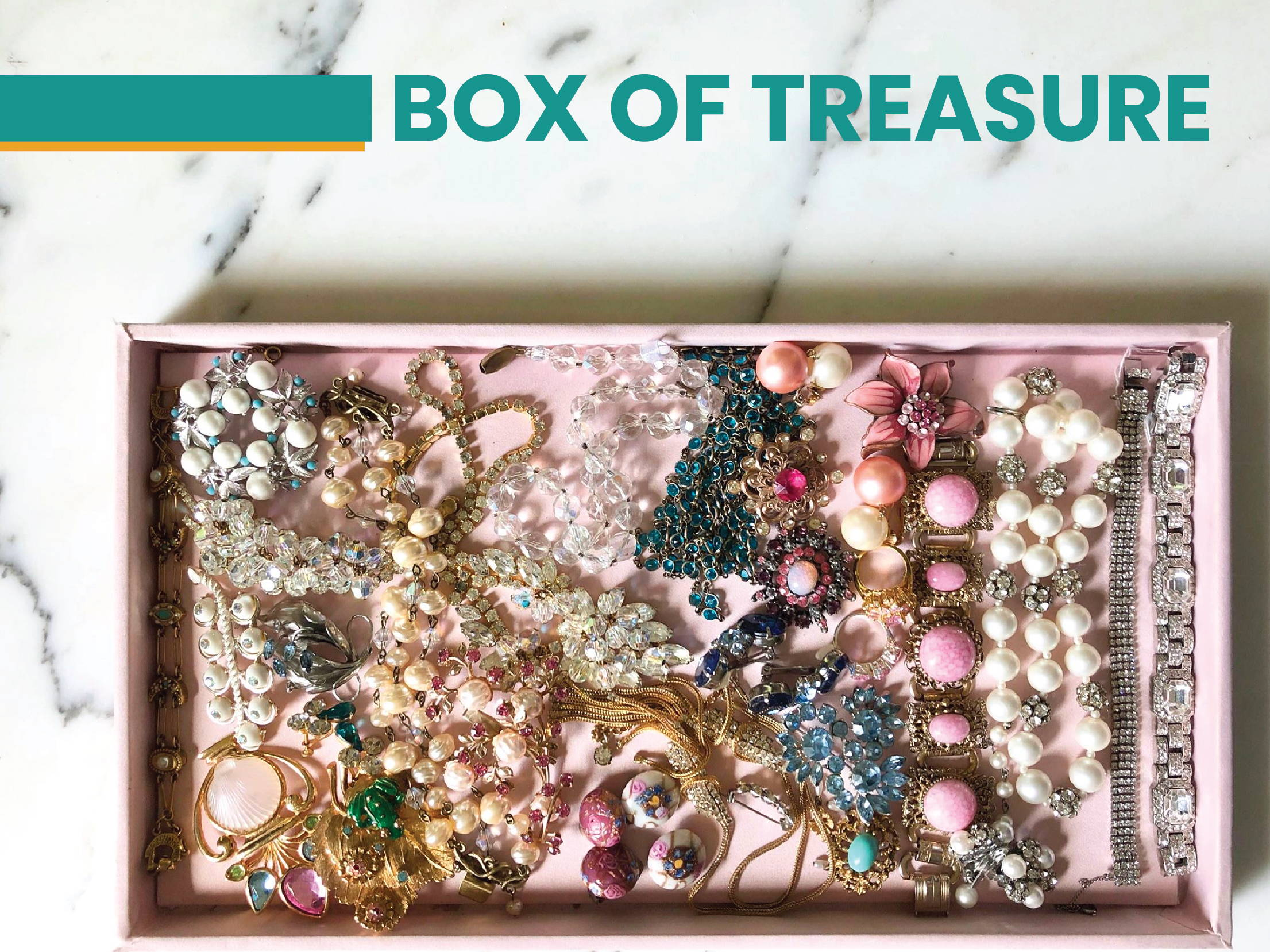 vintage meet modern box of treasure